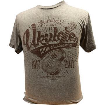Martin Ukulele for Centennial Celebration - Gray T-Shirt XX Large