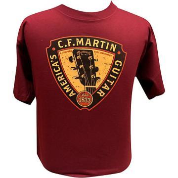 Martin Triangle Headstock T-Shirt Maroon Medium