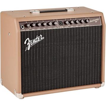 Fender Acoustasonic 90 90W Acoustic Combo Amp Brown Textured Vinyl Covering with Black Grille Cloth