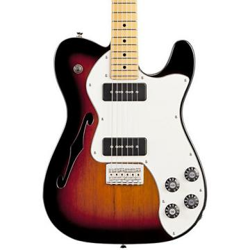 Fender Modern Player Telecaster Thinline Deluxe Electric Guitar 3-Color Sunburst Maple Fretboard