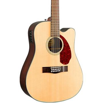 Fender Classic Design Series CD-140SCE Mahogany Cutaway Dreadnought 12-String Acoustic-Electric Guitar Natural