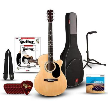 Fender FA135CE Concert Acoustic-Electric Guitar Bundle Natural