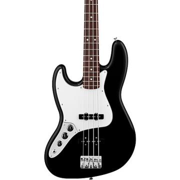 Fender Standard Left-Handed Jazz Bass Guitar with Rosewood Fretboard Black Rosewood Fretboard