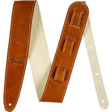 Fender Ball Glove Leather Guitar Strap Brown