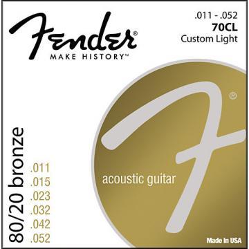 Fender 70CL 80/20 Bronze Acoustic Strings - Custom Light