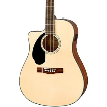 Fender Classic Design Series CD-60SCE Cutaway Dreadnought Left-Handed Acoustic-Electric Guitar Natural