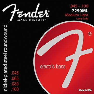 Fender 7250ML Super Bass Nickel-Plated Steel Long Scale Bass Strings - Medium Light