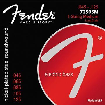 Fender 7250-5M Super Bass Nickel-Plated Steel Long Scale 5-String Bass Strings - Medium