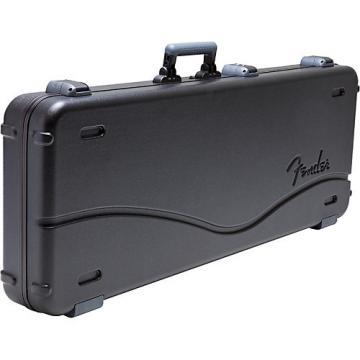 Fender Deluxe Molded ABS Jaguar/Jazzmaster Guitar Case Black Gray/Silver