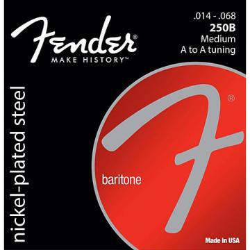 Fender B250 Nickel-Plated Steel Baritone Medium Electric Guitar Strings (14-68)