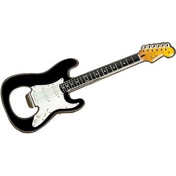 Fender Stratocaster Bottle Opener Magnet Black