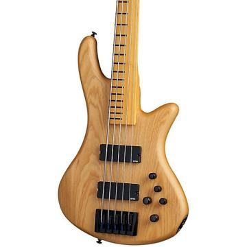 Schecter Guitar Research Stiletto Session-5 Fretless Electric Bass Satin Aged Natural