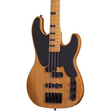 Schecter Guitar Research Model-T Session Electric Bass Guitar Satin Aged Natural