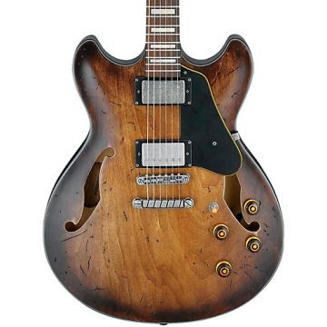 Ibanez Artcore Vintage Series ASV10A Semi-Hollowbody Electric Guitar Tobacco Burst Low Gloss