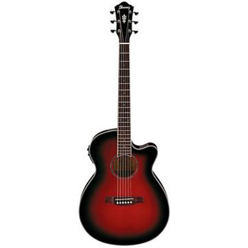 Ibanez AEG10II Cutaway Acoustic-Electric Guitar Transparent Red Sunburst