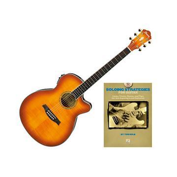 Ibanez AEG20II Acoustic Guitar Bundle Vintage Violin