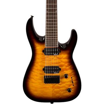 Jackson JS32-7 Dinky DKA QM 7-String Electric Guitar Tobacco Burst