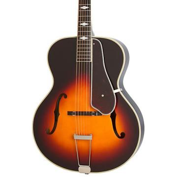 Epiphone Masterbilt Century Collection De Luxe Classic F-Hole Archtop Acoustic-Electric Guitar Vintage Sunburst