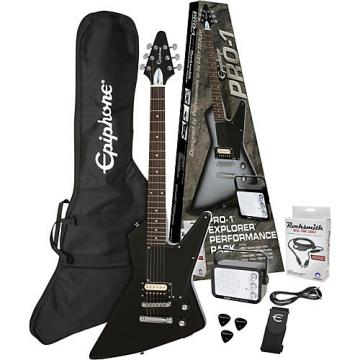 Epiphone PRO-1 Explorer Electric Guitar Pack Ebony
