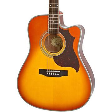 Epiphone FT-350SCE Acoustic-Electric Guitar with Min-Etune Violinburst