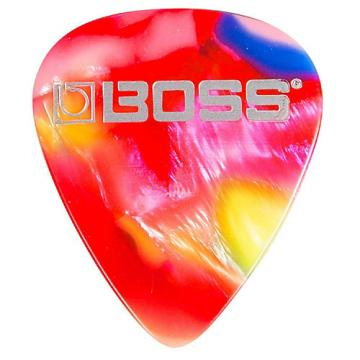 Boss mosaic Celluloid Guitar Pick Thin 12 Pack