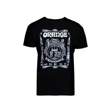 Orange Amplifiers Crest T-Shirt Black Medium