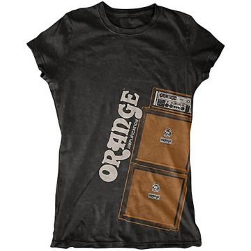 Orange Amplifiers Ladies Stack T-Shirt Black Medium