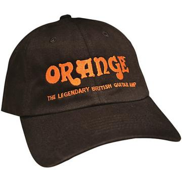 Orange Amplifiers Baseball Hat Black