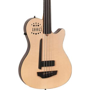 Godin A4 Ultra Natural Fretless SA Acoustic-Electric Bass Guitar Natural Ebony Fretboard
