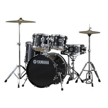 """Yamaha Gigmaker 5-Piece Shell Pack w/20"""" Bass Drum Black Glitter"""