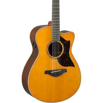 Yamaha A-Series AC3R Concert Cutaway Acoustic-Electric Guitar Vintage Natural