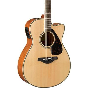 Yamaha FSX820C Small Body Acoustic-Electric Guitar Natural