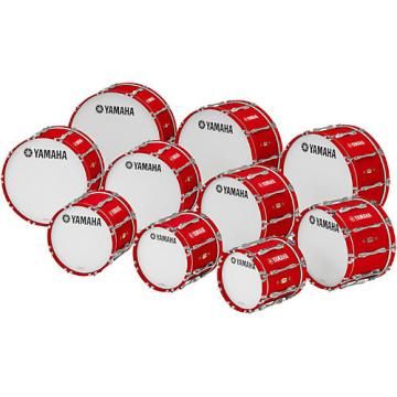 """Yamaha 16"""" x 14"""" 8300 Series Field-Corps Marching Bass Drum Red Forest"""