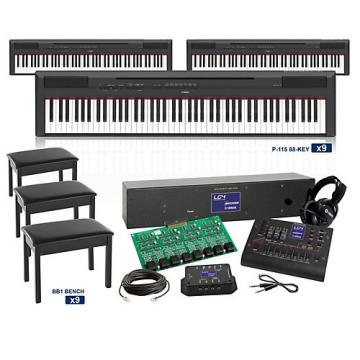 Yamaha P-115 88-key with GHS Action LC4 Keyboard Lab