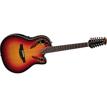 Ovation Standard Elite 2758 AX 12-String Acoustic-Electric Guitar New England Burst