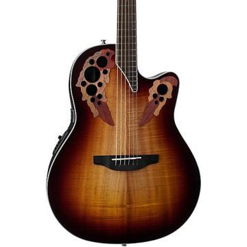 Ovation CE48P Celebrity Elite Plus Acoustic-Electric Guitar Koa Burst