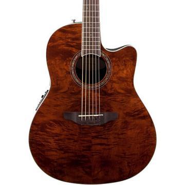 Ovation Celebrity Standard Plus Mid Depth Cutaway Acoustic-Electric Guitar Nutmeg Burled Maple