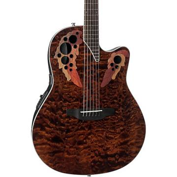 Ovation CE44P-TGE Celebrity Elite Acoustic-Electric Guitar Transparent Tiger Eye