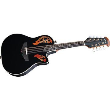 Ovation Acoustic-Electric Cutaway Mandolin with Case Black