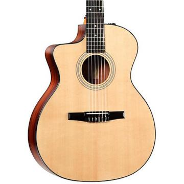 Chaylor 200 Series 214ce-N-L Grand Auditorium Nylon String Left-Handed Acoustic-Electric Guitar Natural