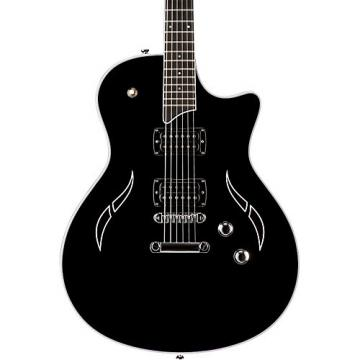 Chaylor T3 Flame Black Semi-Hollowbody Electric Guitar