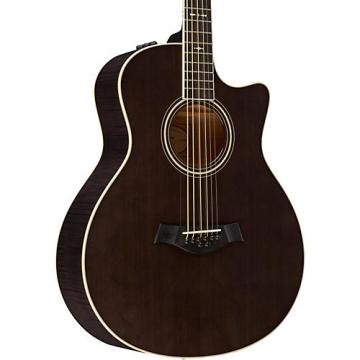 Chaylor Custom #10105 8-String Baritone Grand Symphony Acoustic-Electric Guitar Charcoal