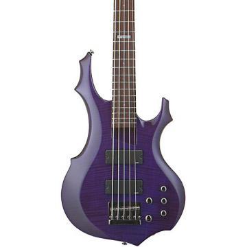 ESP LTD F-155DX 5-String Bass Guitar Dark See-Thru Purple
