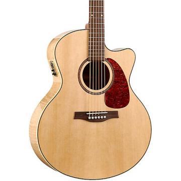 Seagull Performer Cutaway Mini Jumbo Flame Maple QI Acoustic-Electric Guitar Natural