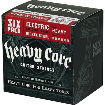 Dunlop Heavy Core Electric Guitar Strings Heavy 6-Pack