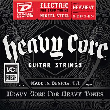 Dunlop Heavy Core Electric Guitar Strings - Heaviest Gauge
