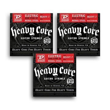Dunlop Heavy Core 7-String Electric Guitar Strings 3-pack - Heavy Gauge
