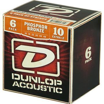 Dunlop Phosphor Bronze Acoustic Guitar Strings Xtra Light 6-Pack