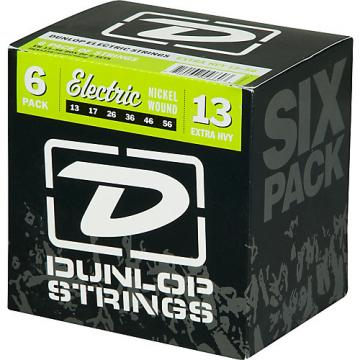 Dunlop Nickel Plated Steel Electric Guitar Strings Extra Heavy 6-Pack