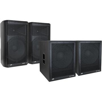 Peavey Dark Matter DM115 Powered Speaker and DM118 Sub Pair